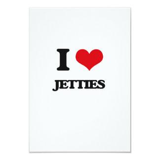 I Love Jetties 3.5x5 Paper Invitation Card