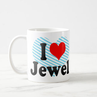 I love Jewel Classic White Coffee Mug