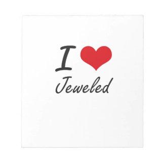 I Love Jeweled Memo Note Pads