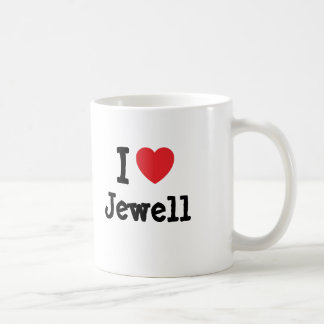 I love Jewell heart custom personalized Classic White Coffee Mug