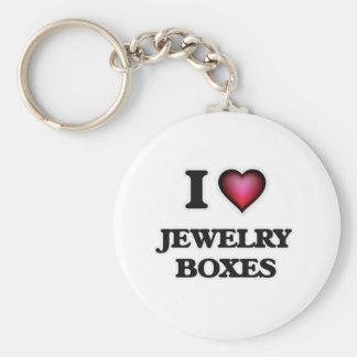 I Love Jewelry Boxes Keychain
