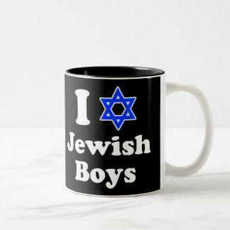 I Love Jewish Boys Two-Tone Coffee Mug