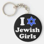 I Love Jewish Girls Basic Round Button Keychain