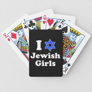 I Love Jewish Girls Bicycle Playing Cards