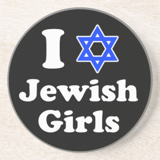 I Love Jewish Girls Drink Coaster