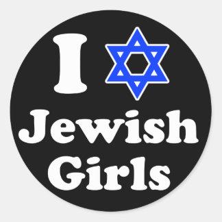 I Love Jewish Girls Stickers