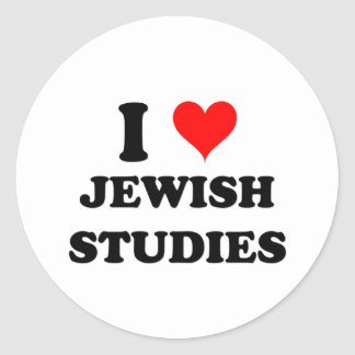 I Love Jewish Studies Classic Round Sticker