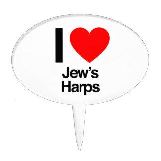 i love jews harps cake picks