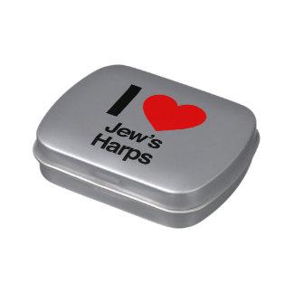 i love jews harps candy tin