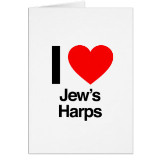 i love jews harps greeting cards