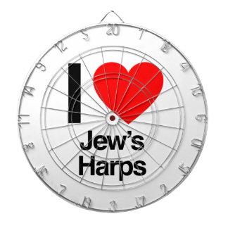 i love jews harps dartboard with darts