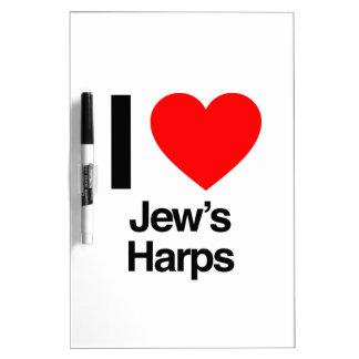 i love jews harps dry erase white board