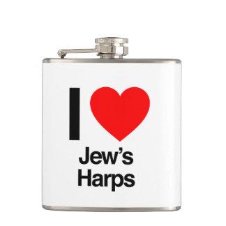 i love jews harps flask