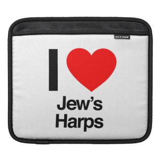 i love jews harps iPad sleeves