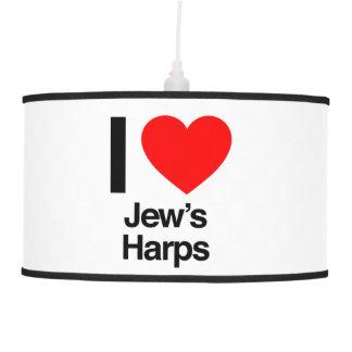 i love jews harps hanging lamps