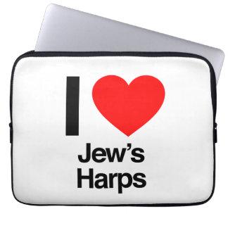 i love jews harps laptop sleeve