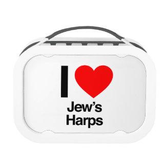 i love jews harps lunchbox