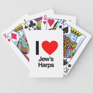 i love jews harps card deck