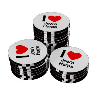 i love jews harps poker chips