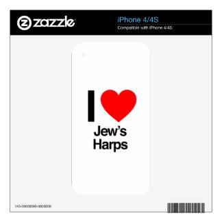 i love jews harps iPhone 4 decals