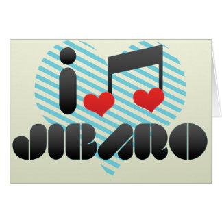 I Love Jibaro Greeting Card
