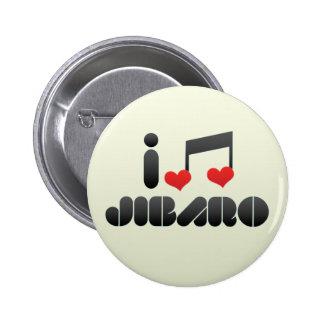 I Love Jibaro Pins