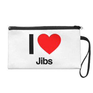 i love jibs wristlet clutches
