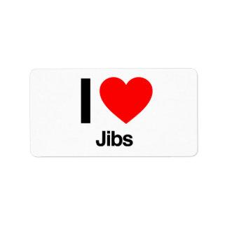i love jibs custom address label