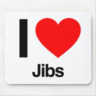 i love jibs mousepads