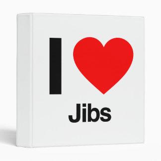 i love jibs vinyl binder