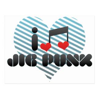 I Love Jig Punk Postcard