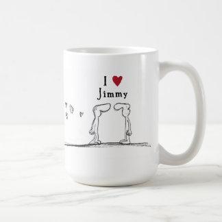"I love Jimmy"" ""I heart Jimmy"" Jimmy love Coffee Mug"