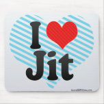 I Love Jit Mousepads