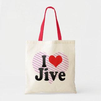 I Love Jive Tote Bags