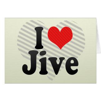 I Love Jive Greeting Card