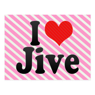 I Love Jive Postcard