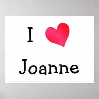 I Love Joanne Poster