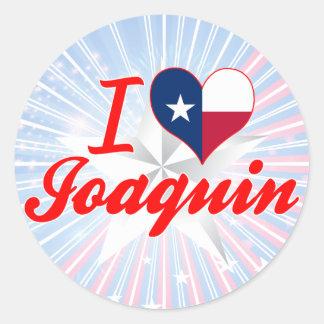 I Love Joaquin, Texas Stickers