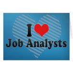 I Love Job Analysts Cards