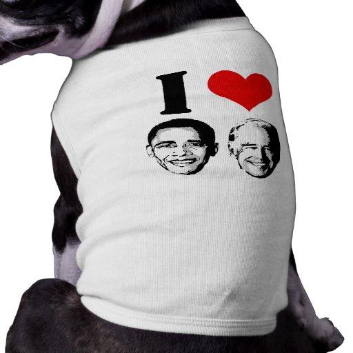 I Love Jobama red plain Dog Shirt