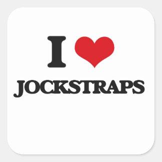 I Love Jockstraps Square Stickers