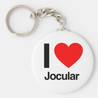 i love jocular key chain