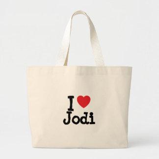 I love Jodi heart T-Shirt Jumbo Tote Bag