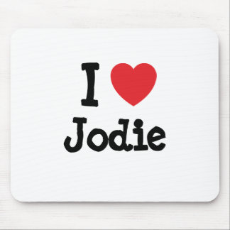 I love Jodie heart T-Shirt Mouse Pad