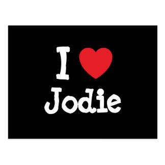 I love Jodie heart T-Shirt Postcard