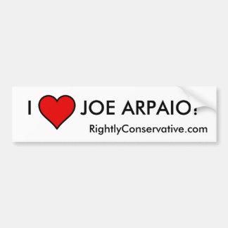 I LOVE JOE ARPAIO! BUMPER STICKER