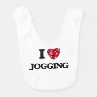 I Love Jogging Baby Bib