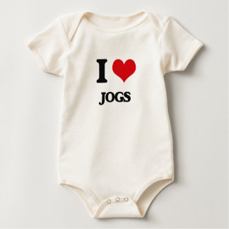 I Love Jogs Baby Creeper