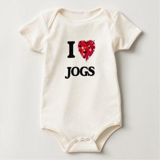 I Love Jogs Baby Bodysuits