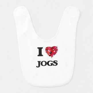 I Love Jogs Baby Bibs